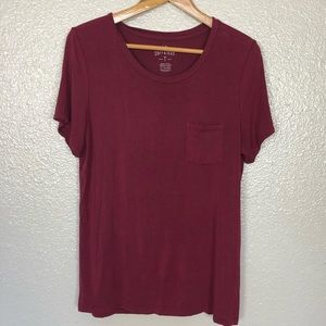 American Eagle Soft & Sexy Burgundy Top XL